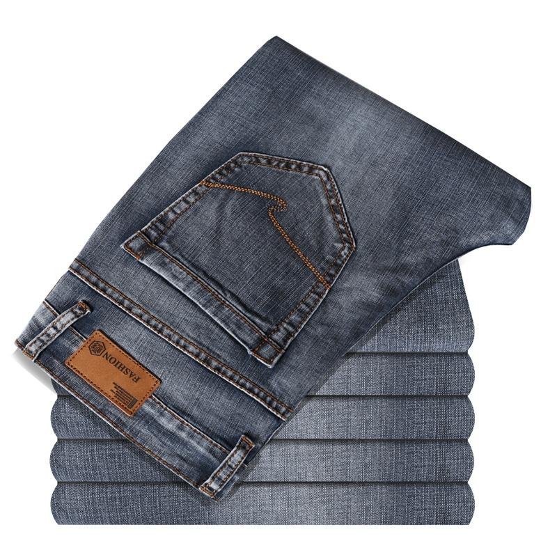 Men Spring Autumn Jeans Denim Pants