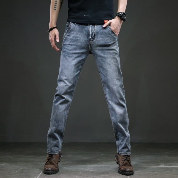 Men's Jeans Slim Straight Trousers