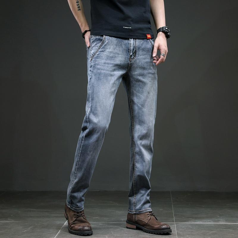 Men's Jeans Slim Straight Trousers